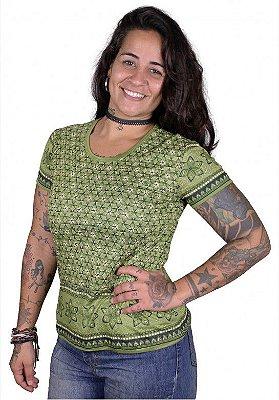 Baby Look Indiana Feminina Violeta Verde