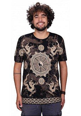 Camiseta Indiana Unissex Ideograma Preta