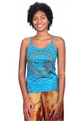 Regata Indiana Verão Feminina Peixe Azul