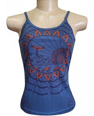 Regata Indiana Verão Feminina Azul