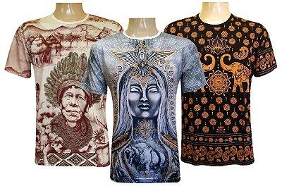 Kit 3 Camisetas Indianas Unissex Sortidas