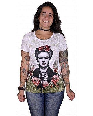 T-shirt Indiana Feminina Frida Kahlo