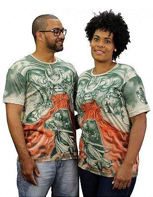 Camiseta Indiana Unissex Dragão Jorge Areia