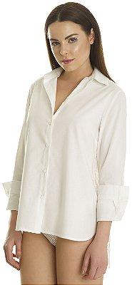 Camisa Lille Feminina Costas Rendada Off White