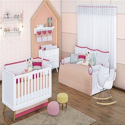Quarto de Bebê 18 Peças Coleção Lhama