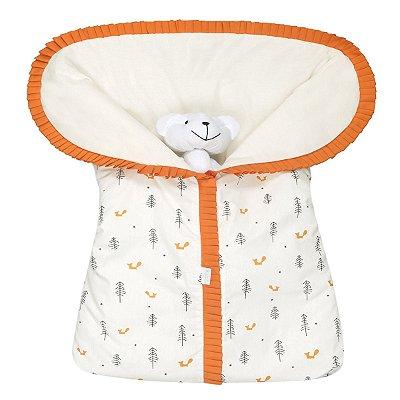Porta Bebê Estampado Raposa