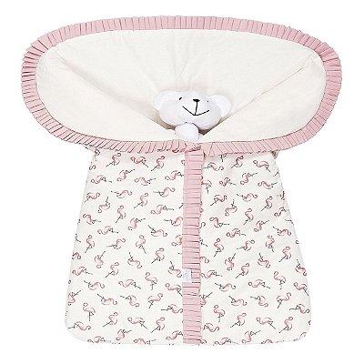 Porta Bebê Estampado Flamingo