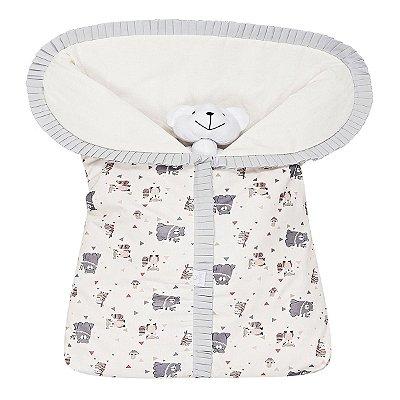Porta Bebê Estampado Ursinho Bege