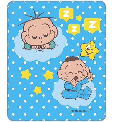 Cobertor para Bebê Estampado Cebolinha e Cascão Baby