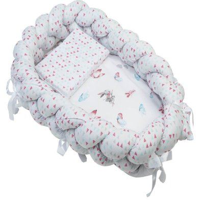 Ninho Trança + Travesseiro Antissufocante Estampado Feminino