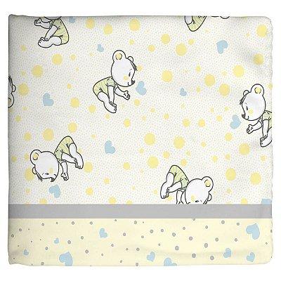 Cobertor para Bebê Estampado Ursinho Amarelo