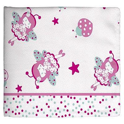 Cobertor Estampado Rosa Borboleta Bailarina