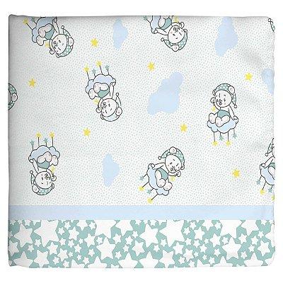 Cobertor Estampado Verde Ursinho