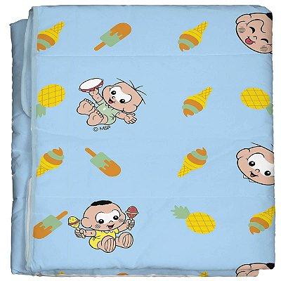 Edredom para Bebê 100% algodão Turma da Mônica Baby Cebolinha e Cascão