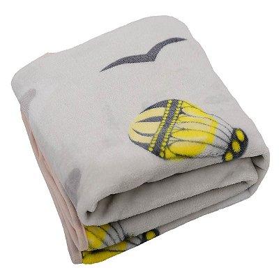 Cobertor para Bebê em Microfibra Neutro
