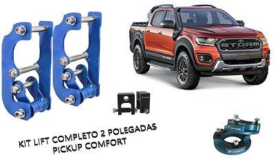 "KIT COMPLETO LIFT 2"" - Ford Ranger 2013 ~ 2021 | Cabine Simples e Dupla"