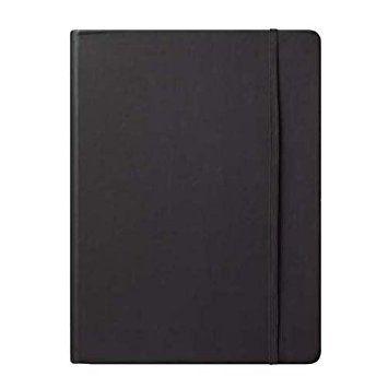 Journal Éccolo capa dura preto folhas quadriculadas *