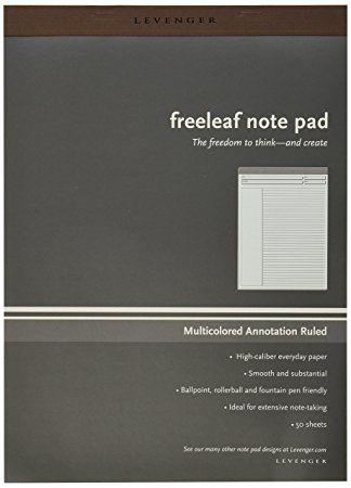 Bloco Levenger Freeleaf note pad A4 *