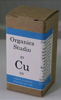 Tinta para caneta tinteiro Organics Studio Copper Turquoise -