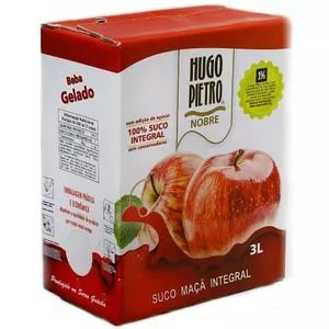 Suco de Maçã Hugo Pietro Integral Bag in Box 3 Litros