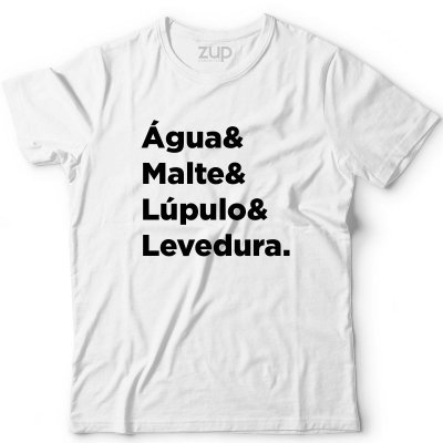 Camiseta Água & Malte & Lúpulo & Levedura
