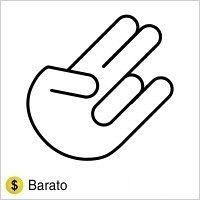 """Adesivo em Recorte  """"Mãozinha"""" Hand Contour Branco"""