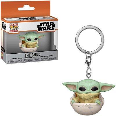 Chaveiro Funko Pocket Star Wars Baby Yoda Child Hover Pram