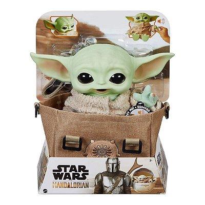 Star Wars Mandalorian Baby Yoda The Child Pelúcia c/ Mochila