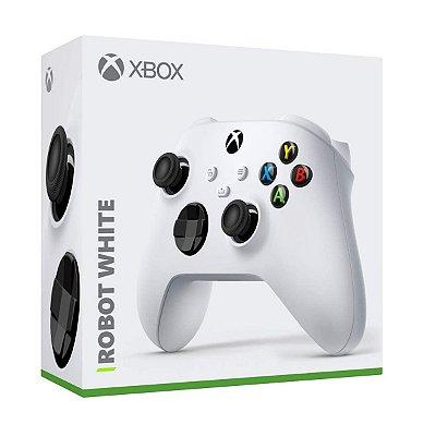 Controle Xbox s/ Fio Robot White - Xbox Series X/S, One e PC