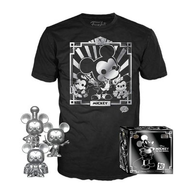 Funko Pop Disney Mickey 90th Kit 3 Pop + Camiseta S (P)