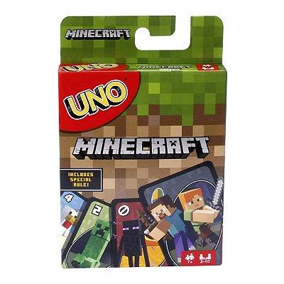 Jogo Cartas UNO Minecraft Inglês - Mattel