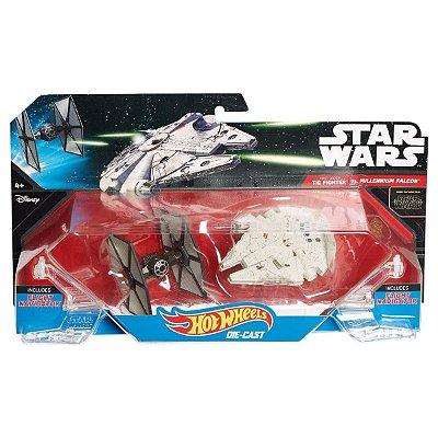 Hot Wheels Star Wars Tie Fighter vs. Millennium Falcon