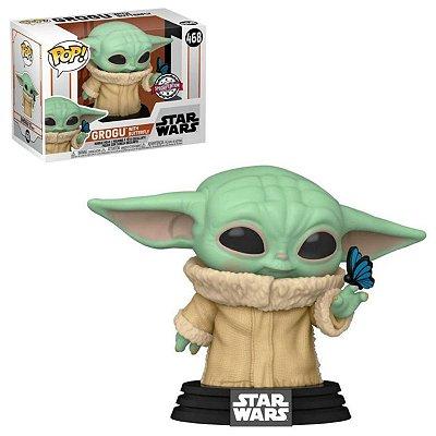 Funko Pop The Mandalorian 468 Baby Yoda Grogu w/ Butterfly