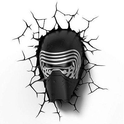 Luminária 3D Star Wars Máscara Kylo Ren