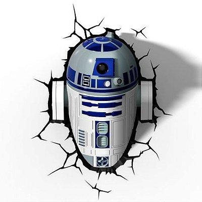 Luminária 3D Star Wars R2-D2