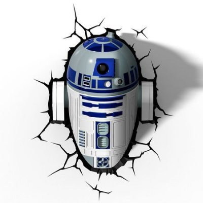 Luminária 3D Star Wars R2-D2 R2D2