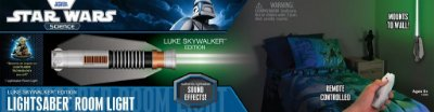 Luminária Star Wars Remote Control Lightsaber Luke Skywalker