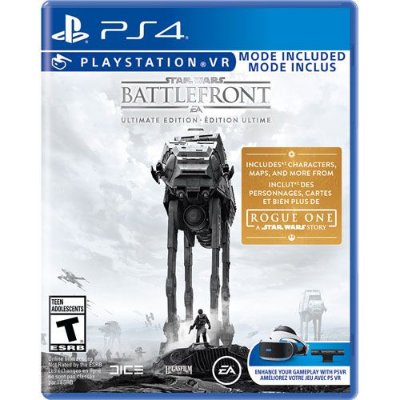 Star Wars Battlefront Ultimate Edition c/ VR Mode + DLC Rogue One - PS4
