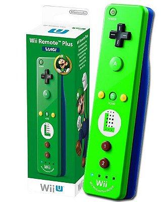 Controle Wii Wii U Remote Plus Luigi