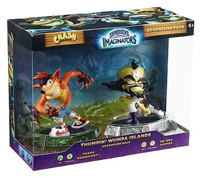Skylanders Imaginators Thumpin Whumpa Islands Crash e Neo Cortex Adventure Pack