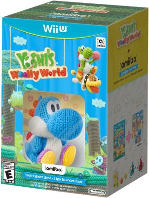 Yoshi's Woolly World + Blue Yarn Yoshi Amiibo - Wii U