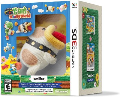 Yoshi's Woolly World + Yarn Poochy Amiibo Kit - 3DS
