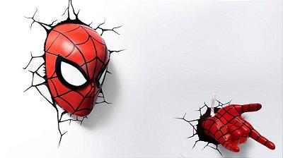 Luminárias Mascara + Punho Homem-Aranha Spider 3d Light Fx