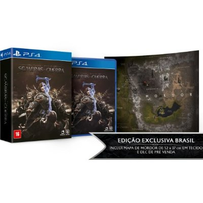 Middle-Earth Shadow Of War Sombras da Guerra Ed. Limitada - PS4