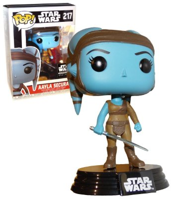 Funko POP Star Wars 217 Aayla Secura Smuggler's Bounty Exclusive