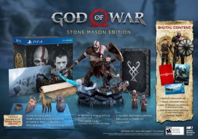 God of War Stone Mason's Edition Collectors - PS4