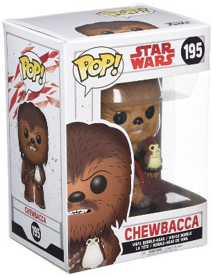 Funko POP Star Wars The Last Jedi 195 Chewbacca e Porg