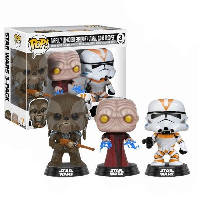 Funko Pop Star Wars 3-Pack Tarfful, Emperor e Clone Trooper