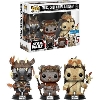 Funko Pop Star Wars 3-Pack Teebo, Chief Chirpa e Logray