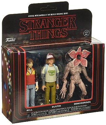 Funko Stranger Things 3 Pack: Will, Dustin e Demogorgon